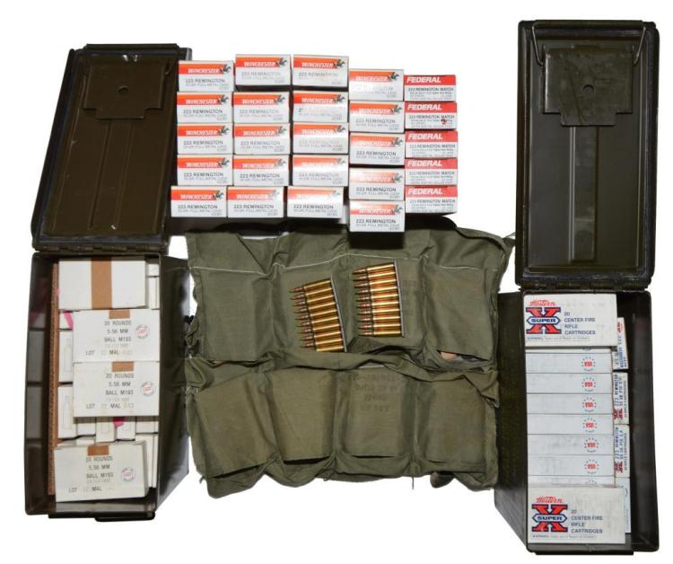 LOT OF 223 REM. / 5.56 NATO AMMO; COMMERCIAL &