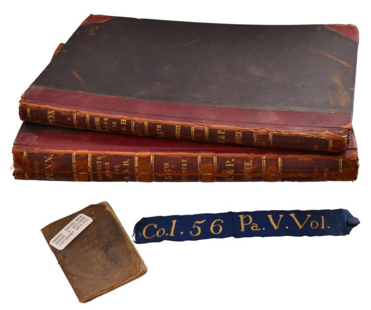 CIVIL WAR 56TH PA INFANTRY ACCOUNT BOOKS, PRAYER