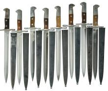 8 SWISS M1918 BAYONETS.