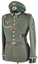 GERMAN ARMY ENGINEERS DRESS TUNIC AND NCO VISOR