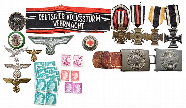 WWII NAZI GERMAN MEDALS, PINS & BADGES