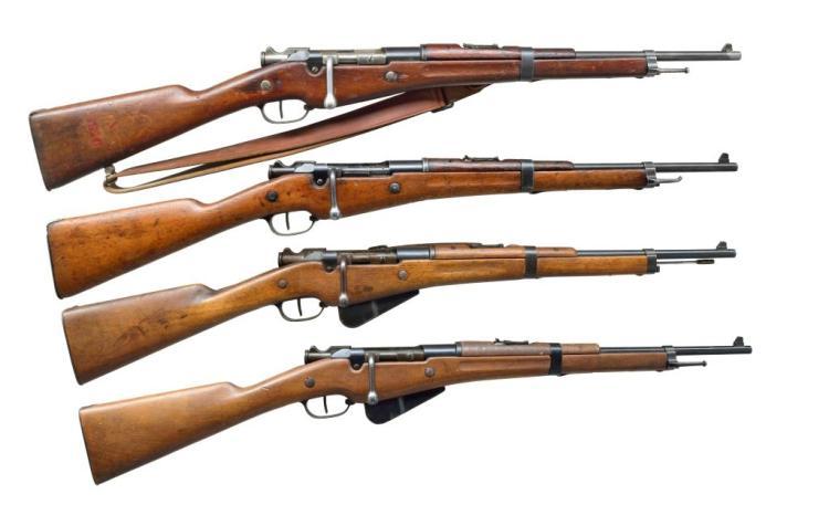4 BERTHIER M16 BOLT ACTION CAVALRY CARBINES