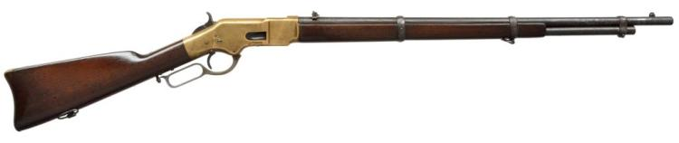 WINCHESTER 1866 THIRD MODEL LEVER ACTION MUSKET.