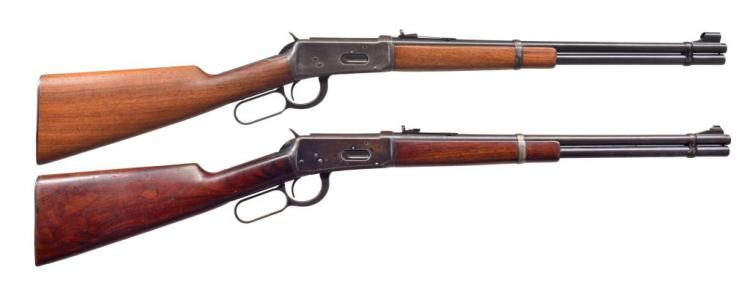 2 WINCHESTER 94 LEVER ACTION CARBINES.