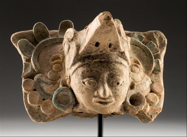 Maya eagle warrior head