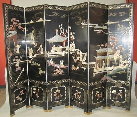 H18-68 SIX PANEL CHINESE SCREEN