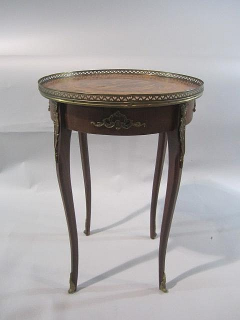 H18-60  INLAID MARQUETRY TOP PARLOR TABLE