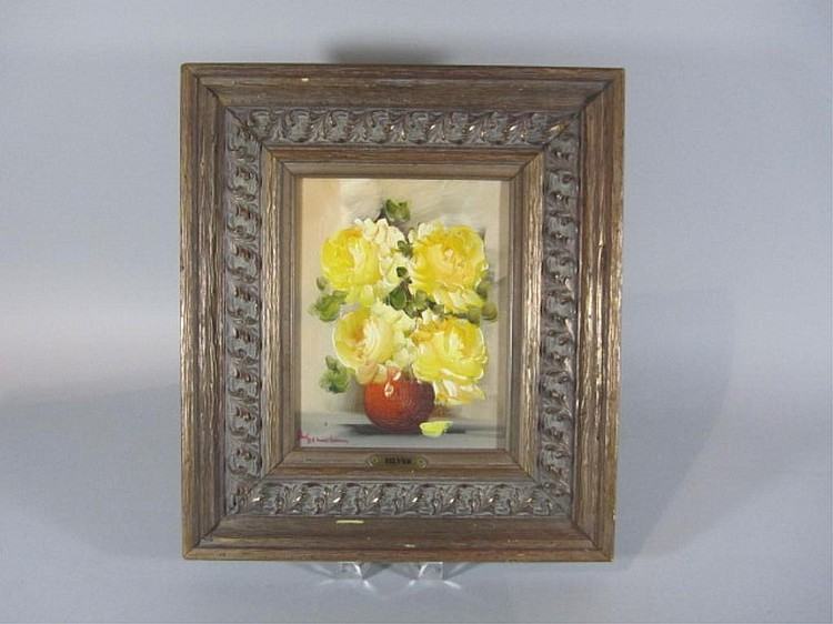 H18-19 YELLOW FLOWERS OIL PAINTING