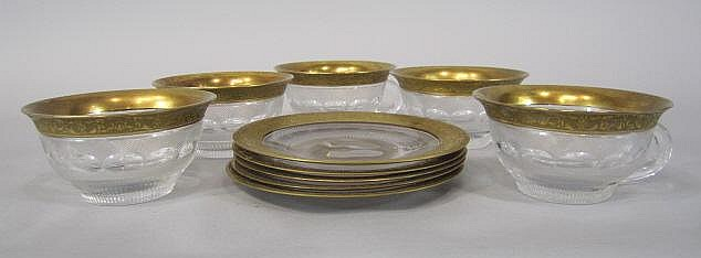 H80-200  SET OF 5 MOSER SPLENDID GOLD SHERBERTS