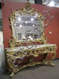 H41-1  GILDED CONSOLE WITH MATCHING MIRROR