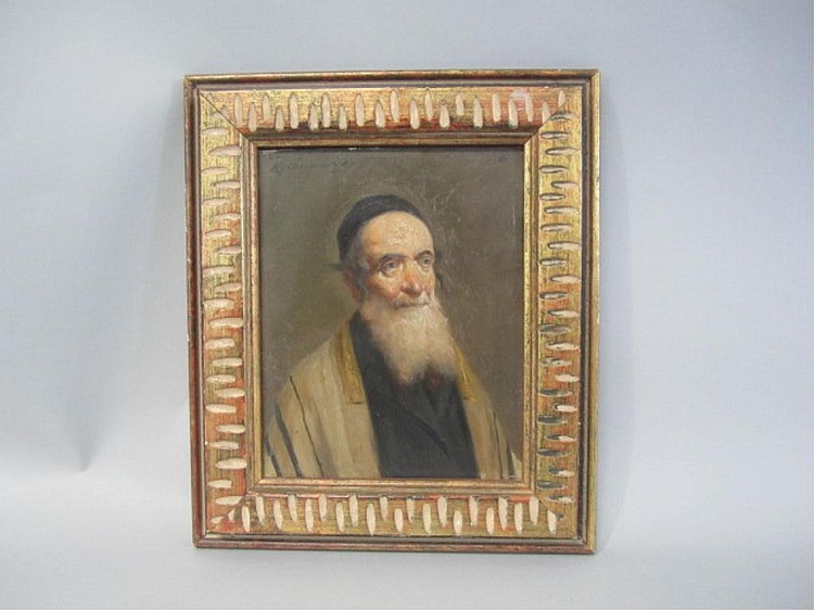 A45-8  POLISH PAINTING OF RABBI