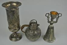 GROUP OF 3 SILVER PLATED ITEMS