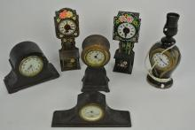 GROUP OF 6 ASSORTED CLOCKS