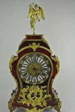 19TH CENTURY  BRONZE & TORTISE SHELL CLOCK