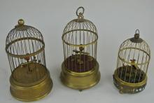 3 BIRD CAGES
