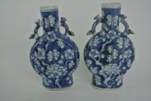 BH4  PAIR OF CHINESE 19th CENTURY VASES