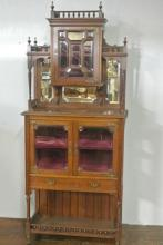 19TH CENTURY WALNUT CURIO