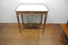 BH330 MID CENTURY GILTWOOD MIRROR TOP TABLE