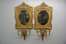 BH328 PAIR OF 18/19THC ITALIAN GILTWOOD MIRRORS