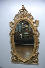 BH318 LARGE 19TH CENTURY GILT WOOD MIRROR