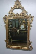 BH321 GILT WOOD MIRROR