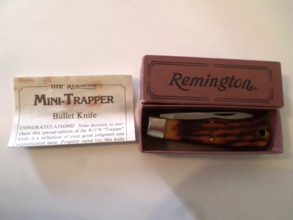 Knife- Remington Mini Trapper Bullet Knife R1178