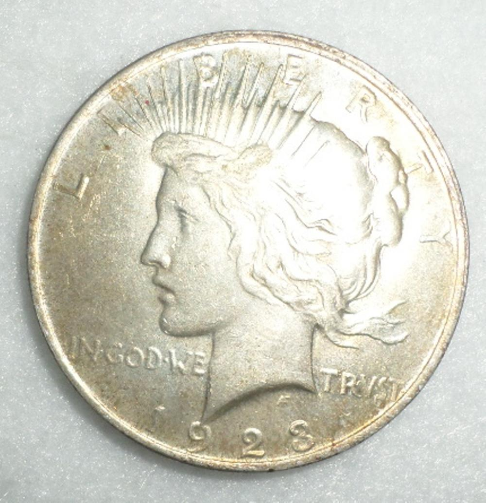 Coins Lot - Qty 2 - Peace Dollars 1923, 1924
