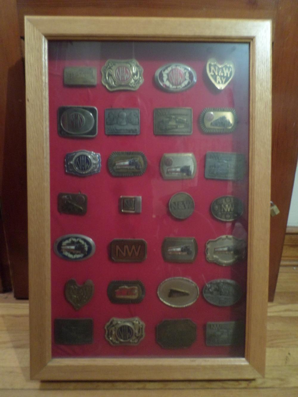 22 N & W Belt Buckles in Presentation Case