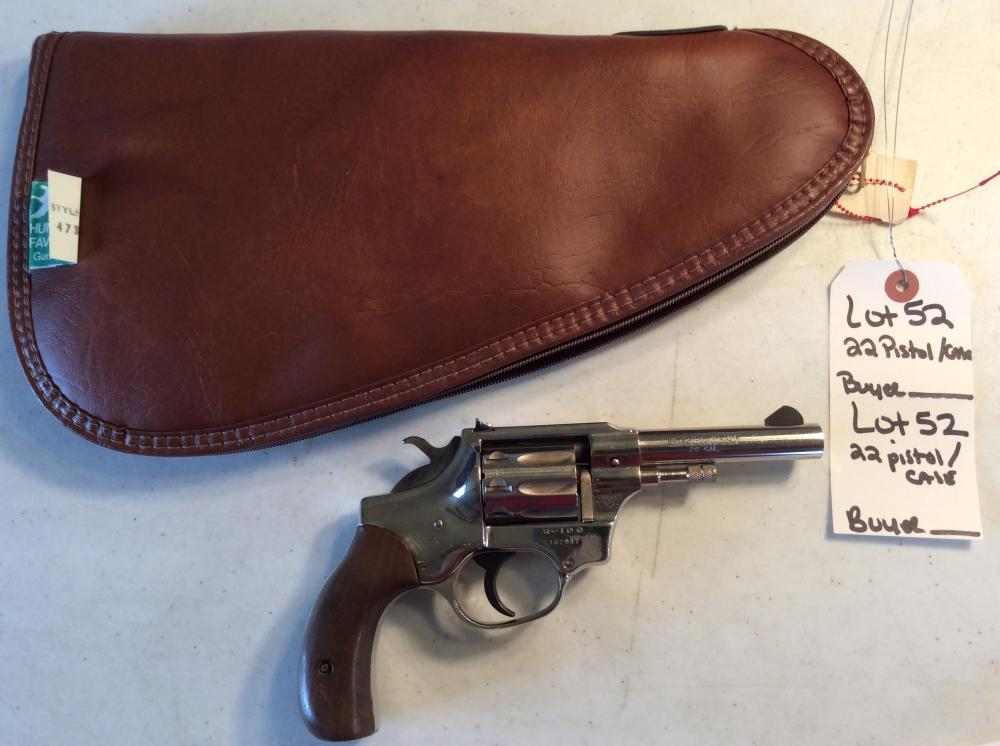 22 Revolver, 8 Shot, High Standard, Model R106 /w Case