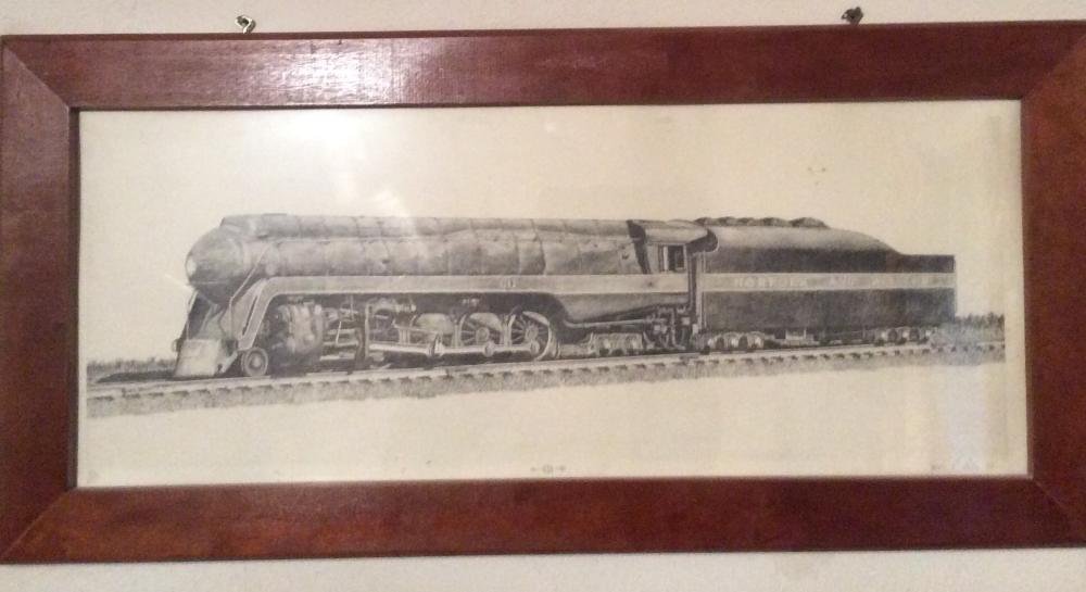 Numbered and Signed Print of Norfolk and Western #611