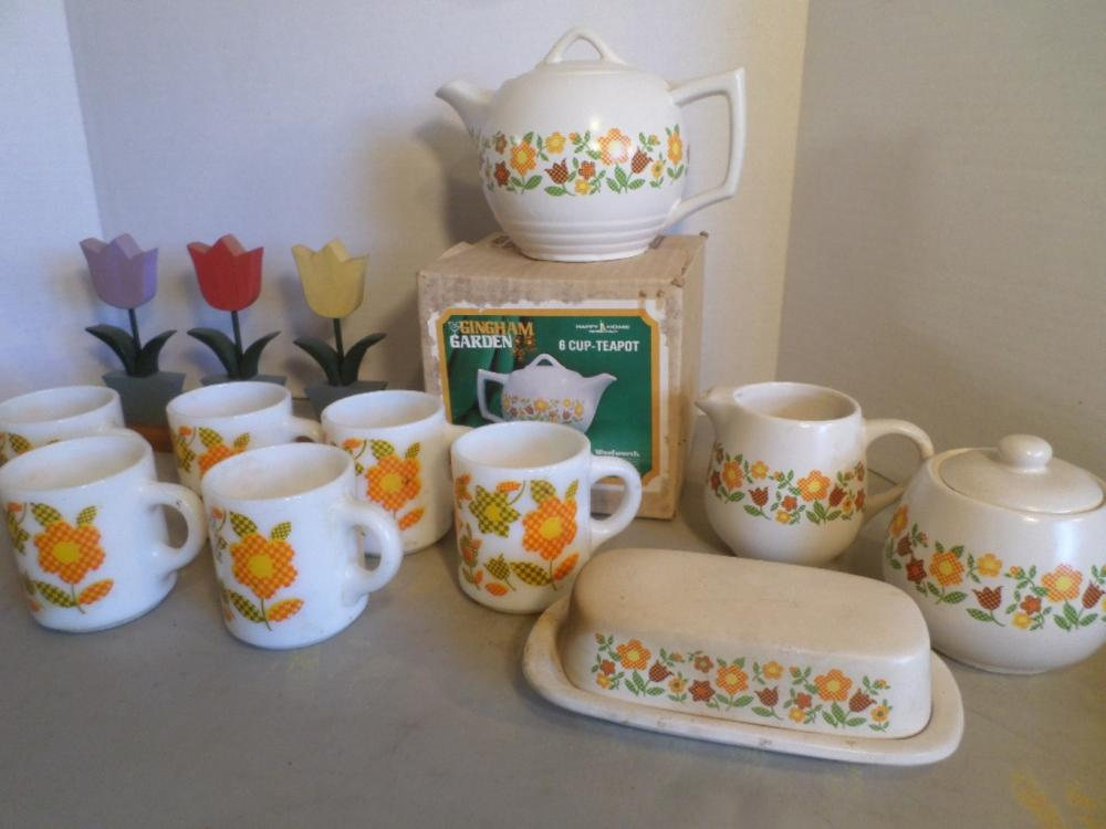 McCoy, Gingham Flower, Serving Dishes Plus Others
