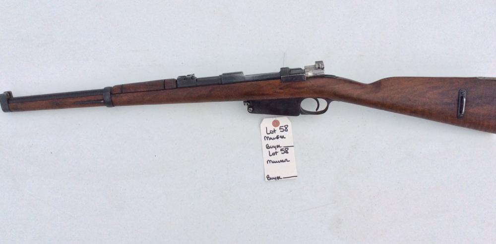 Mauser/Argentine 189 L Bolt Action 765 S/N C4959