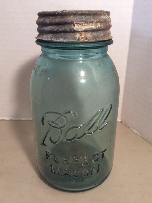 #13 Blue Ball Canning Jar /w Zinc Lid