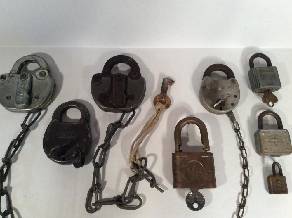 N & W Railroad Locks with other Pad Locks