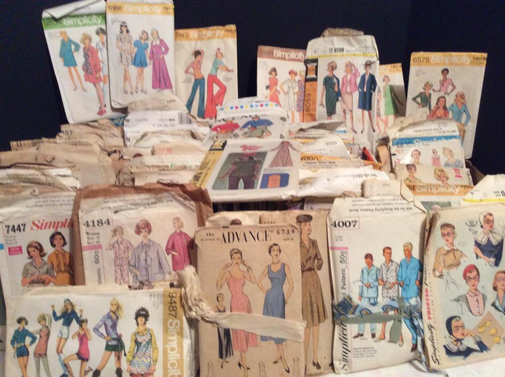 Vintage Sewing Patterns (3 Boxes)