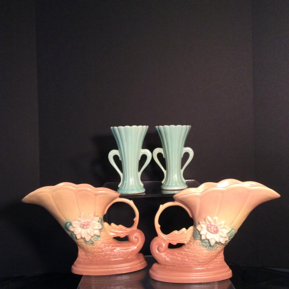 Hull and McCoy Art Pottery Vases (2 pair)