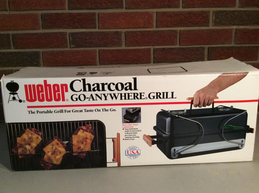 Weber Charcoal Go Anywhere Grill.