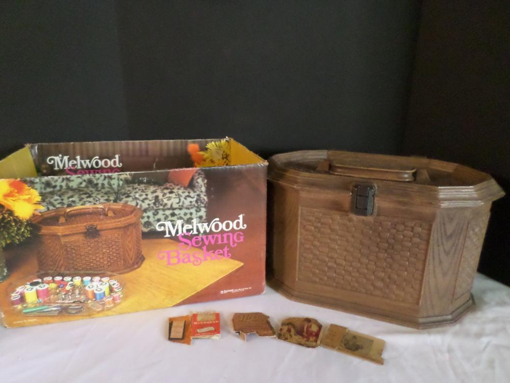 Melwood Sewing Basket /w Contents