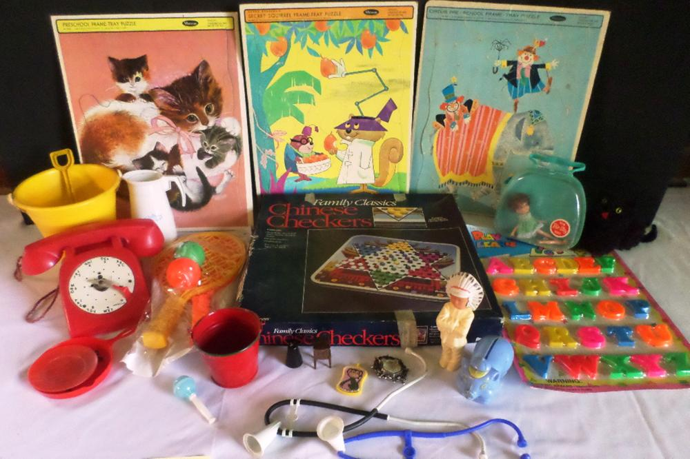 Old Puzzles, Toys & Games