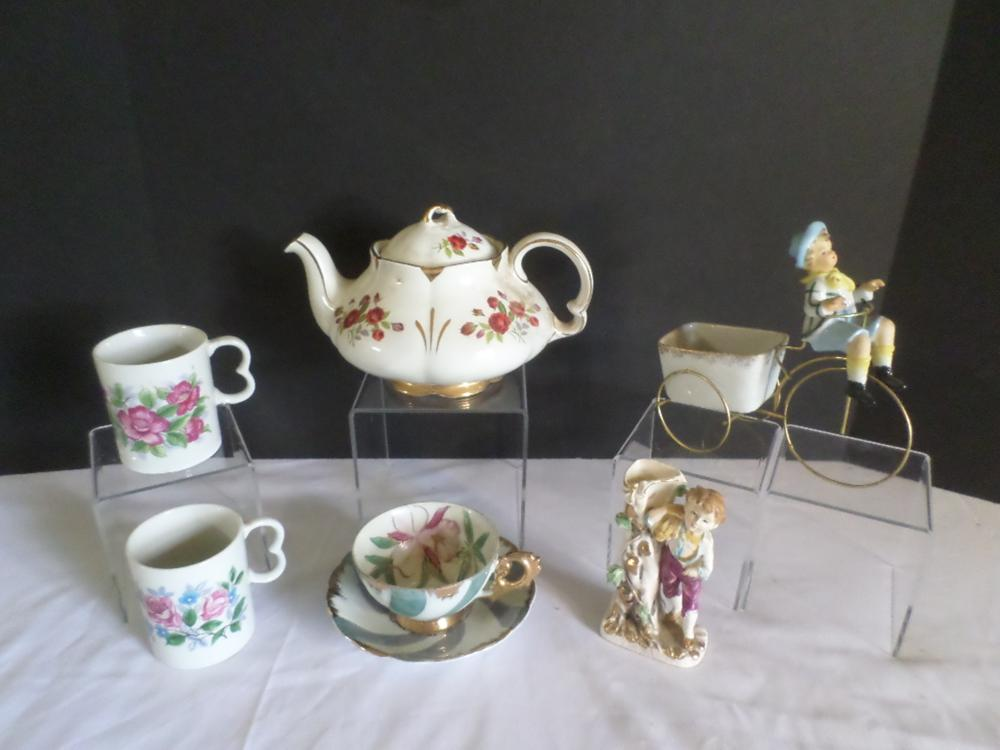 Ellgreave England Teapot, Cup Saucer, and Other Items