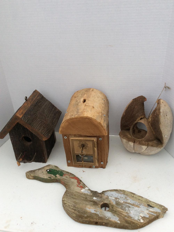 Antique Postal Box Custom Birdhouse plus Other