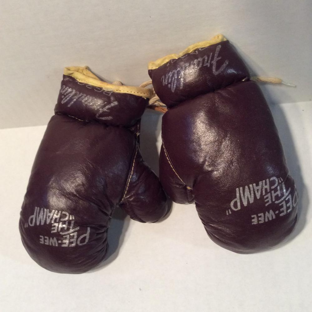 Vintage Pee Wee Champ Mini Boxing Gloves (Marked Franklin)