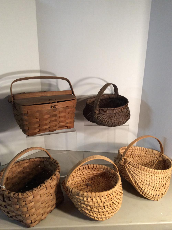 Longaberger Basket plus other woven baskets