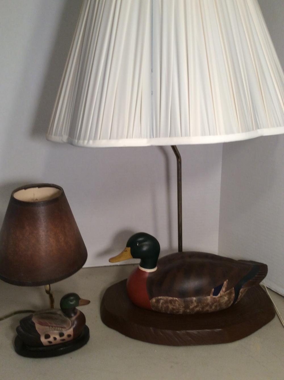 2 Ceramic Duck Lamps