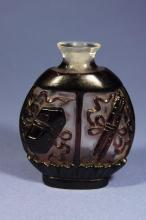 Chinese antique Peking glass snuff bottle