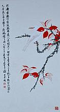 Xie ZhiLiu ; Chinese Scroll Painting
