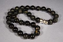 Chinese antique tiger eye stone beads