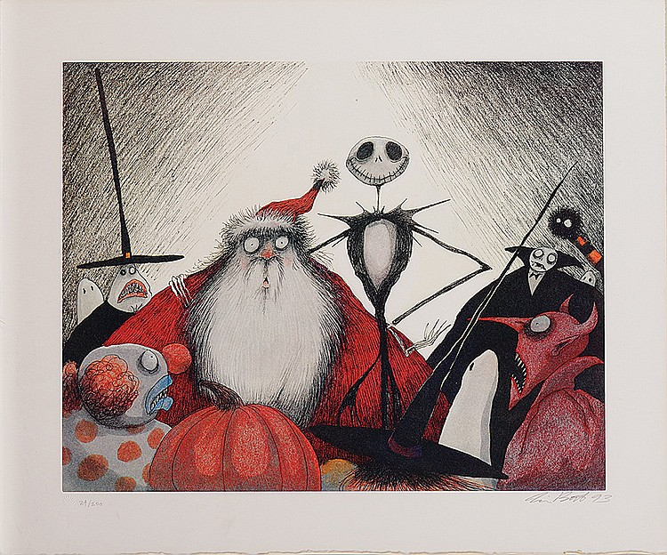 Tim Burton signed The Nightmare Before Christmas limited edi