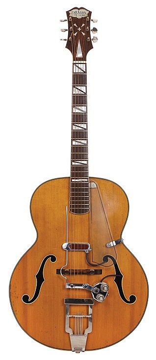 Vic Flick's Clifford Essex Paragon De Luxe guitar used for the James Bond theme in Dr. No.