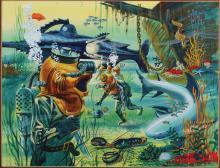 20,000 Leagues Under the Sea original artwork for puzzle by Felix Palm.